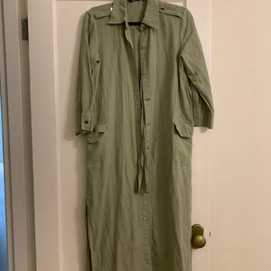 Brand New Green Zara Midi Dress